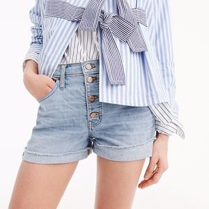 J. Crew | High-rise denim short with button fly